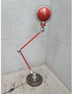 Lampe industrielle Jielde rouge vive