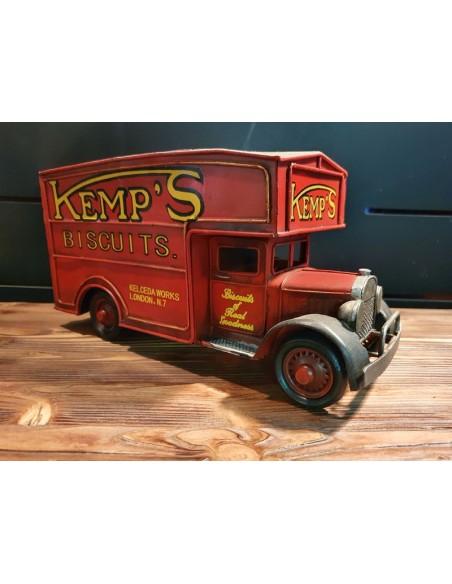 Camion fourgon kemp's biscuits rouge tôle décoration métal vintage