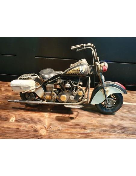 Moto indian tôle décoration métal vintage long 41 cm