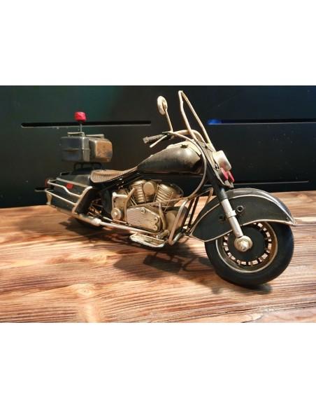 Moto américaine tôle décoration métal vintage long 29 cm