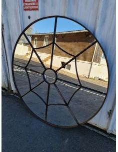 Miroir industriel model araignée métallique rond diamètre 135 cm 17 sections