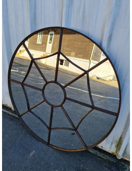 Miroir industriel model araignée métallique rond diamètre 110 cm 17 sections